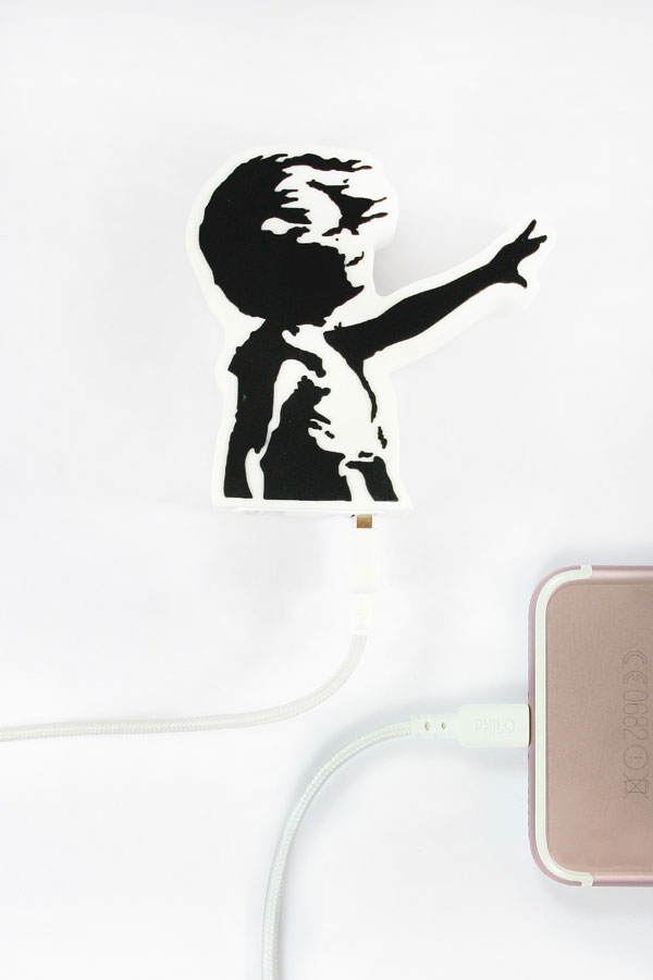 banksy custom power bank personalized