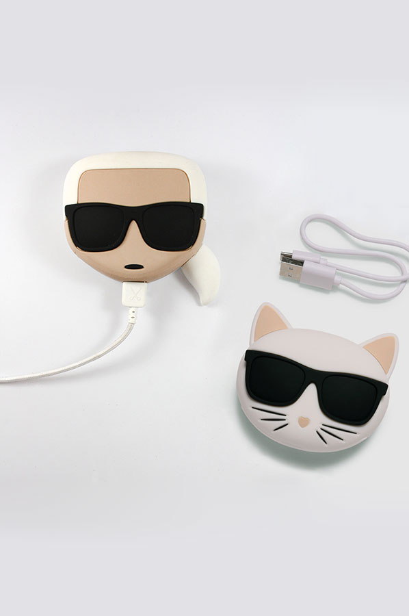 karl lagerfield custom power bank personalized